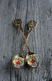 Vintage teaspoons Royalty Free Stock Photography