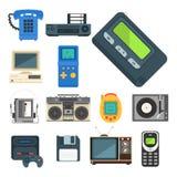 Vintage technologies vector retro audio multimedia entertainment  Stock Image