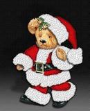 Vintage Teddy Bear as Santa royalty free stock image