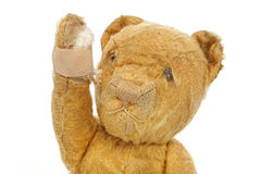 Vintage Teddy Bear Injured Stock Photography