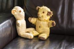 Vintage Teddy Bears Fotografía de archivo libre de regalías