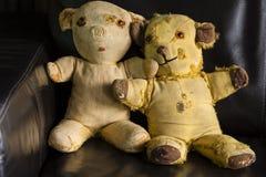 Vintage Teddy Bears Foto de Stock Royalty Free