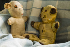 Vintage Teddy Bears Fotografía de archivo