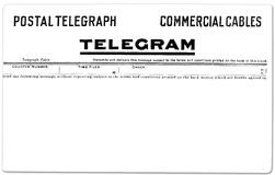 Vintage Telegram Stock Image