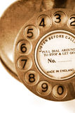 Vintage Telephone. Focus On The Numbers On An Grungy Old Antique Turn Dial Telephone Stock Photos