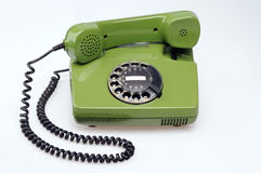 Vintage telephone. On withe background royalty free stock photography