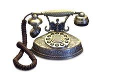 Vintage telephone. Antique telephone on the white background royalty free stock image