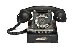 Vintage telephone. On white background Royalty Free Stock Photo