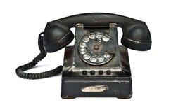 Vintage telephone. On white background Royalty Free Stock Photo
