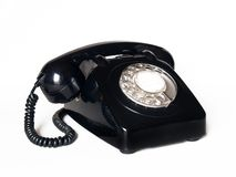 Vintage telephone. Retro telephone over white background Royalty Free Stock Image