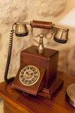 Vintage telephone. Closeup of the vintage telephone Royalty Free Stock Photo