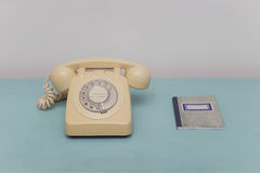Vintage Telephone and Address Book Stock Images