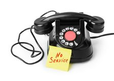 Free Vintage Telephone And Paper No Service Royalty Free Stock Photo - 118339085