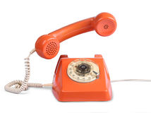 Vintage telephone answer handset Stock Photography