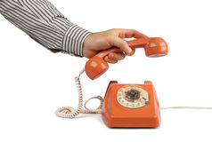 Vintage telephone answer handset Royalty Free Stock Photography