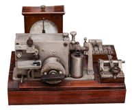 Vintage telephone apparatus Stock Images