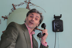 Vintage telephone call Royalty Free Stock Image