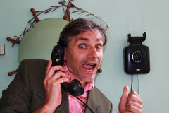 Vintage telephone call Stock Image