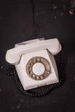 Vintage telephone on a dark background Stock Photo