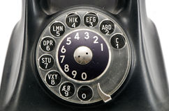 Vintage telephone dial with numbers Stock Photo
