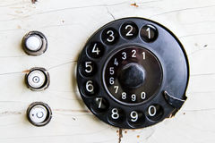 Vintage Telephone Dial Numbers Stock Image