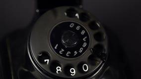Vintage telephone stock video footage