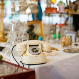 Vintage telephone on a flea market Royalty Free Stock Photos