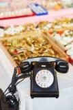 Vintage telephone on flea market Royalty Free Stock Photo