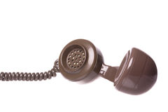 Vintage Telephone Handset Isolated Stock Photos