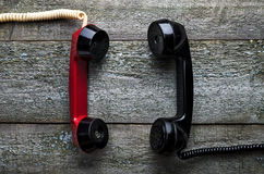 Vintage telephone handset Royalty Free Stock Photo