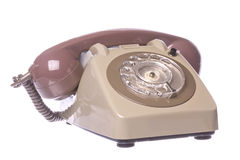 Vintage Telephone Isolated Stock Photo