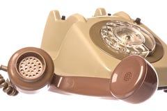 Vintage Telephone Isolated Royalty Free Stock Photos