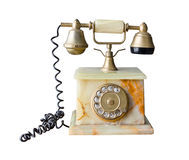 Vintage telephone isolated Stock Photography