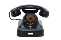 Vintage Telephone Isolated Stock Photos