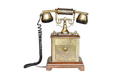 Vintage telephone isolated on white Royalty Free Stock Images