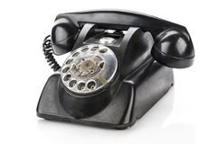 Vintage telephone isolated on a white background.  Stock Photos