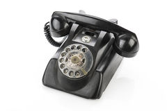Vintage telephone isolated on a white background.  Royalty Free Stock Photos