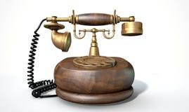 Vintage Telephone Isolated Stock Image
