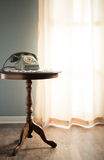 Vintage telephone in the living room Royalty Free Stock Image