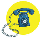 Vintage Telephone No.5, handset on. Illustration is in eps10 vector mode Stock Image