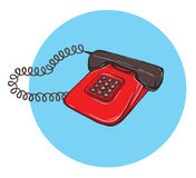 Vintage Telephone No.8, handset on. Illustration is in eps10 vector mode Royalty Free Stock Images