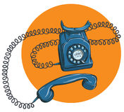Vintage Telephone No.1, handset off. Illustration is in eps10 vector mode Stock Images