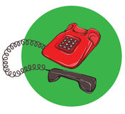 Vintage Telephone No.4, handset off. Illustration is in eps10 vector mode Royalty Free Stock Photos