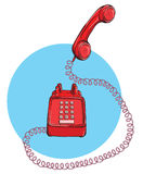 Vintage Telephone No.9, handset up. Illustration is in eps10  mode Stock Images