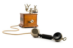 Vintage Telephone off the Hook. A very old phone from the 30s off the hook Royalty Free Stock Photo