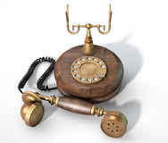 Vintage Telephone Off The Hook Royalty Free Stock Photo