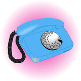 Vintage telephone. Vintage old telephone over white ligth background Royalty Free Stock Image