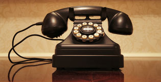 Vintage Telephone Panorama Royalty Free Stock Images