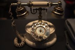 The vintage telephone royalty free stock photography