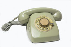 Vintage telephone receiver Stock Photo